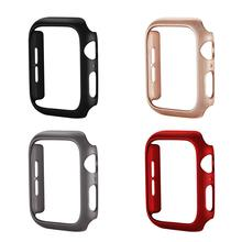 цена на PC brushed watch case For Apple Watch Series 5 4 3 2 1 Protective Cover Frame For iwatch 44mm 40mm 38mm 42mm Bumper Watch Shell