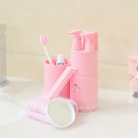 5 in 1 Portable Travel Wash Cup Toothbrush Cup Partitioning Wash Toothpaste Holder Storage Box