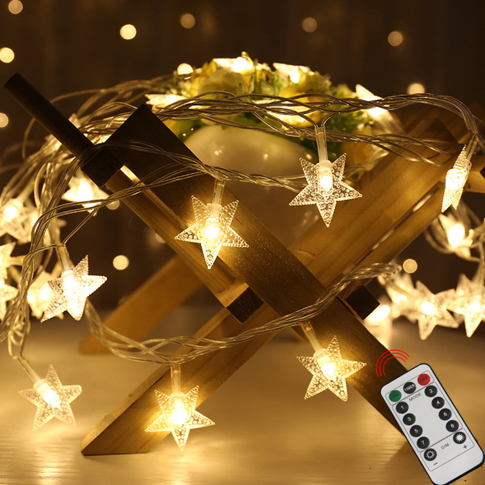 LEADLY Star LED String Lights Christmas Fairy Lights Garland Outdoor Home For Wedding Party Curtain Garden Decoration Light Lamp