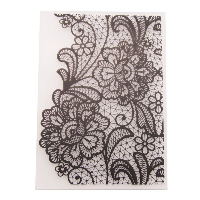 ShapeW Plastic Embossing Folder Template DIY Scrapbook Photo Album Card Dotted Line