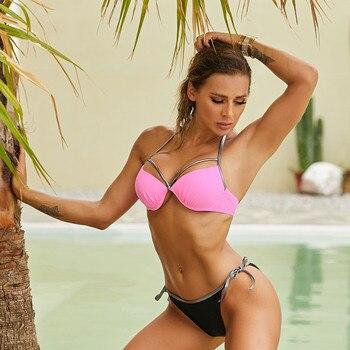 Sexy Frauen Bikini Bademode Push-Up Brasilianischer Sommer Strand 1