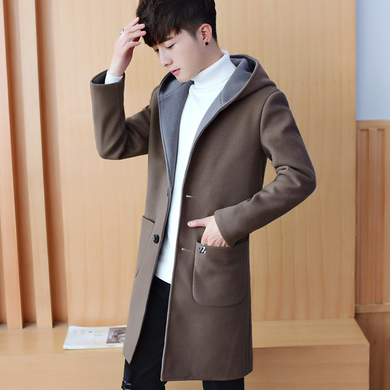 Trench Coat Men Full Length Large Size Windbreaker Street Motorcycle Men Winter Jacket Techwear Abrigo Acolchado Hombre GG50dy