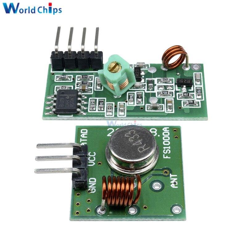 433Mhz RF 12V 5V Wireless Transmitter Receiver Kit Module Arduino ARM WL MCU