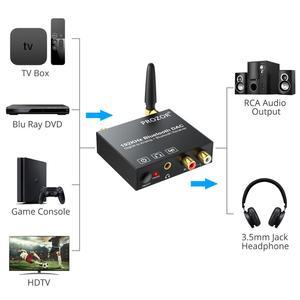Image 5 - PROZOR الرقمية إلى التناظرية محول صوت بلوتوث DAC محول محوري Toslink إلى التناظرية ستيريو L/R RCA 3.5 مللي متر محول الصوت