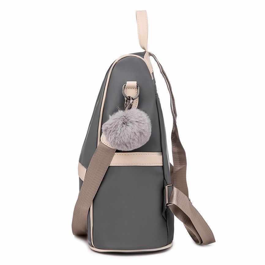 1pc sac à dos étanche grande capacité Oxford tissu Anti-vol sac à bandoulière femmes décontracté Bookbag voyage Shopping Daypack 2019 70