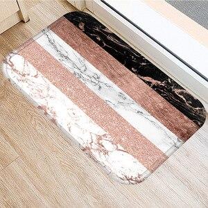Image 5 - 40*60cm חום פס החלקה זמש שטיח מחצלת דלת חיצוני מטבח סלון שטיח רצפת בית שינה דקורטיבי רצפת מחצלת.