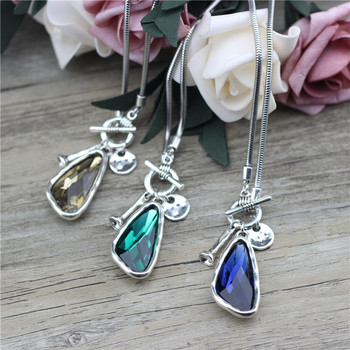 Anslow 2021 New Fashion Winter Sweater Chain 90cm Length Women Female Long Necklace Irregular Crystal Pendant Charms LOW0046AN 6