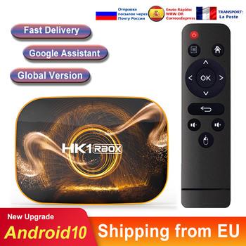 Tv box z androidem z systemem Android 10 HK1 RBOX RK3318 4k podwójny Wifi odtwarzacz multimedialny smart tv box zestaw pudełkek pod telewizor Android tv konsole do gier tanie i dobre opinie DQiDianZ 100 M CN (pochodzenie) RK3318 Quad-Core 64bit Cortex-A53 16 GB eMMC 32 GB eMMC 64 GB eMMC 128 GB eMMC Brak 2G DDR3
