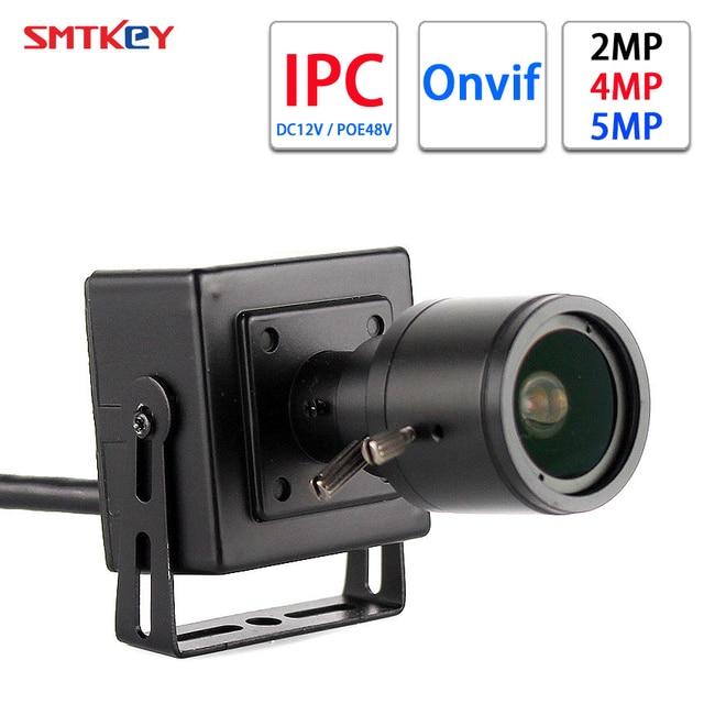 Smtkey 1080P H.265/H.265 + Ip Netwerk Camera Onvif 2MP / 4MP / 5MP In Dc 12V of 48V Poe 2.8 12 Mm Handmatige Zoom Lens Mini Ip Camera