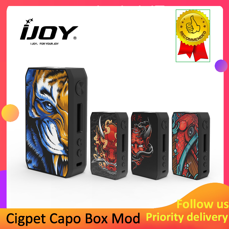 Electronic Cigarette Original IJOY Cigpet Capo 126w Box Mod Fit 510 Thread Tank Power By Dual 18650 Batteries Vape Mod Vs DRAG 2