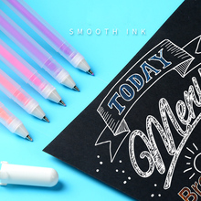 Buy 1Piece 0.7mm Professional White Highlighter Pen Marker Pen Liner Sketch Markers Scribble Pen Manga Design School Art Supplies directly from merchant!