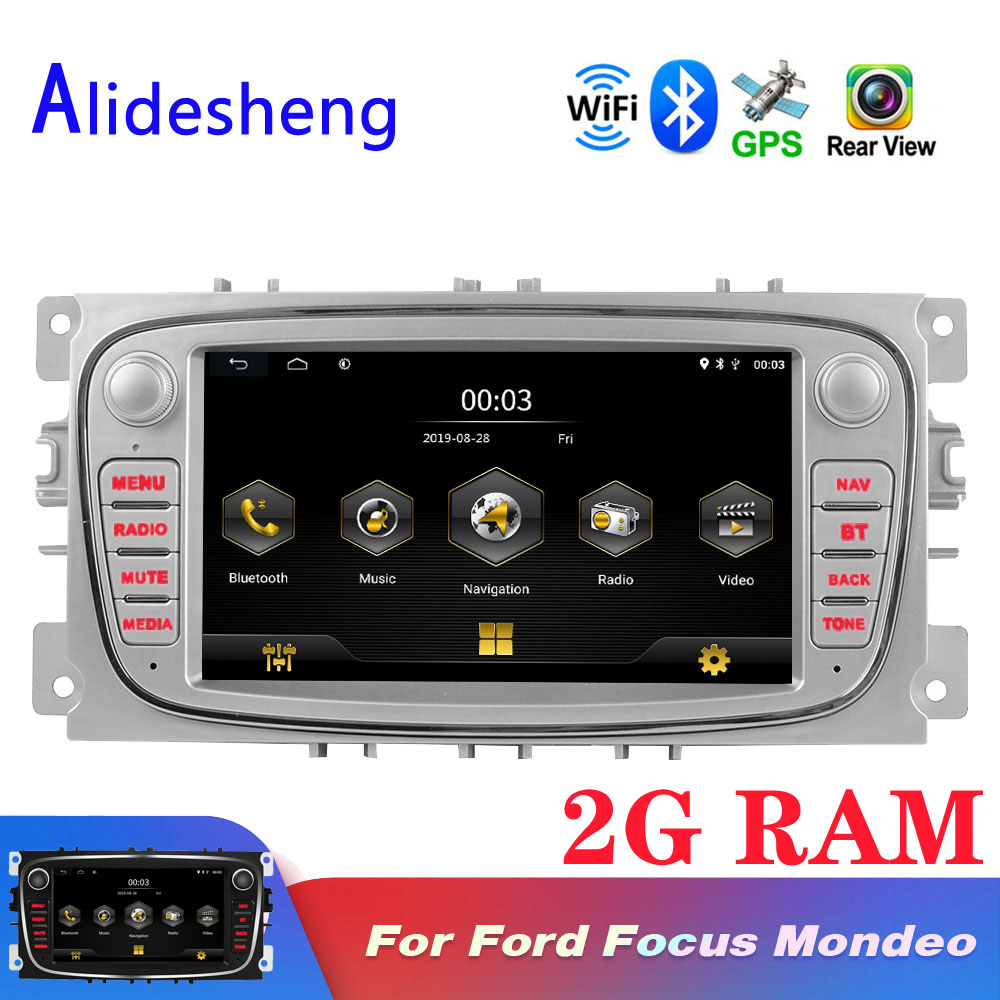 2 Din 7'' Android For Ford Focus 2 S-Max Mondeo MK4 Galaxy C-Max Stereo car radios GPS navigation Car android Multimedia player(China)