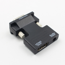 ホット HDMI メス VGA オス変換オーディオアダプタでサポート 1080 1080p 信号出力コンバータ + オーディオケーブル L3FE