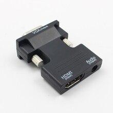 Nóng HDMI To VGA Male Với Bộ Chuyển Đổi Âm Thanh Hỗ Trợ 1080P Tín Hiệu Đầu Ra Convertor + Cáp Âm Thanh L3FE
