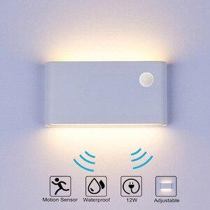 12 Вт светодиодный открытый настенные светильники IP65 Водонепроницаемый настенный светильник светодиодный лестница света AC85-AC265V коридор ...