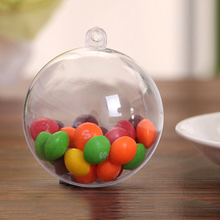 5 шт. прозрачных пластиковых рождественских шаровых безделушек могут быть заполнены рождественские вечерние украшения для дома(Бесплатный маленький подарок