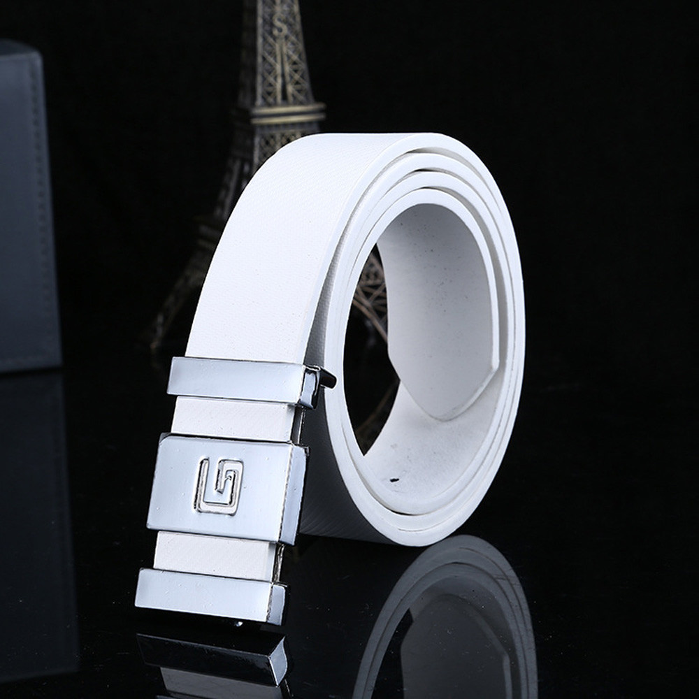 Luxury Designer Belts For Jeans Men Women Automatic Buckle Leather Waist Strap Belts Buckle Belt Fashion Students Simple New