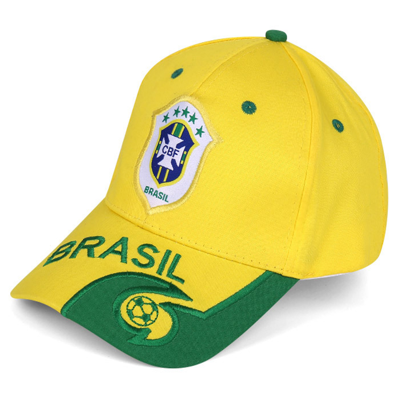 New men and women trend personality fashion fans baseball cap Brazil fitting accessories F1 racing European football sports hat