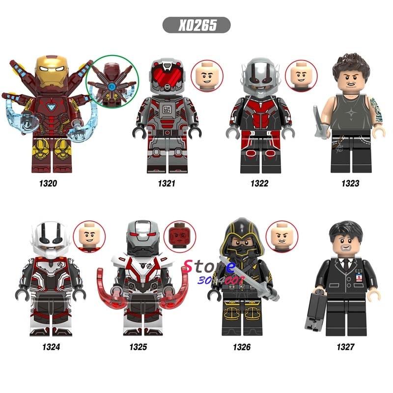 Single Avengers Endgame Iron Man MK85 AntMan Hawkeye War Machine Thor Pepper Scarlet Witch Wasp Building Blocks Kids Toys