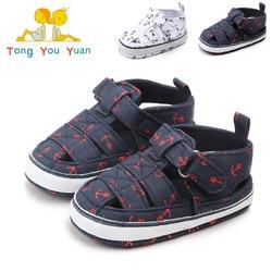 QYFLYXUE zapatos de bebé de verano nuevo tipo ancla de barco transpirable de fondo suave zapatos de bebé sandalias de caminar antideslizante al por mayor 2164