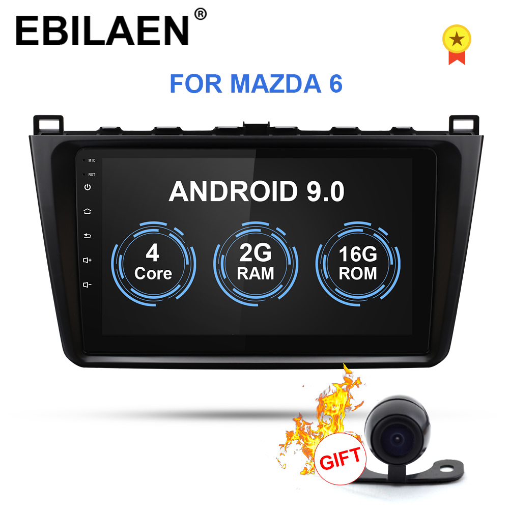 EBILAEN Auto Radio Multimedia-player Für <font><b>Mazda</b></font> <font><b>6</b></font> Gh 2008-2015 Android 8.1 Auto GPS Navigation Mazda6 II Ultra Band recorder image