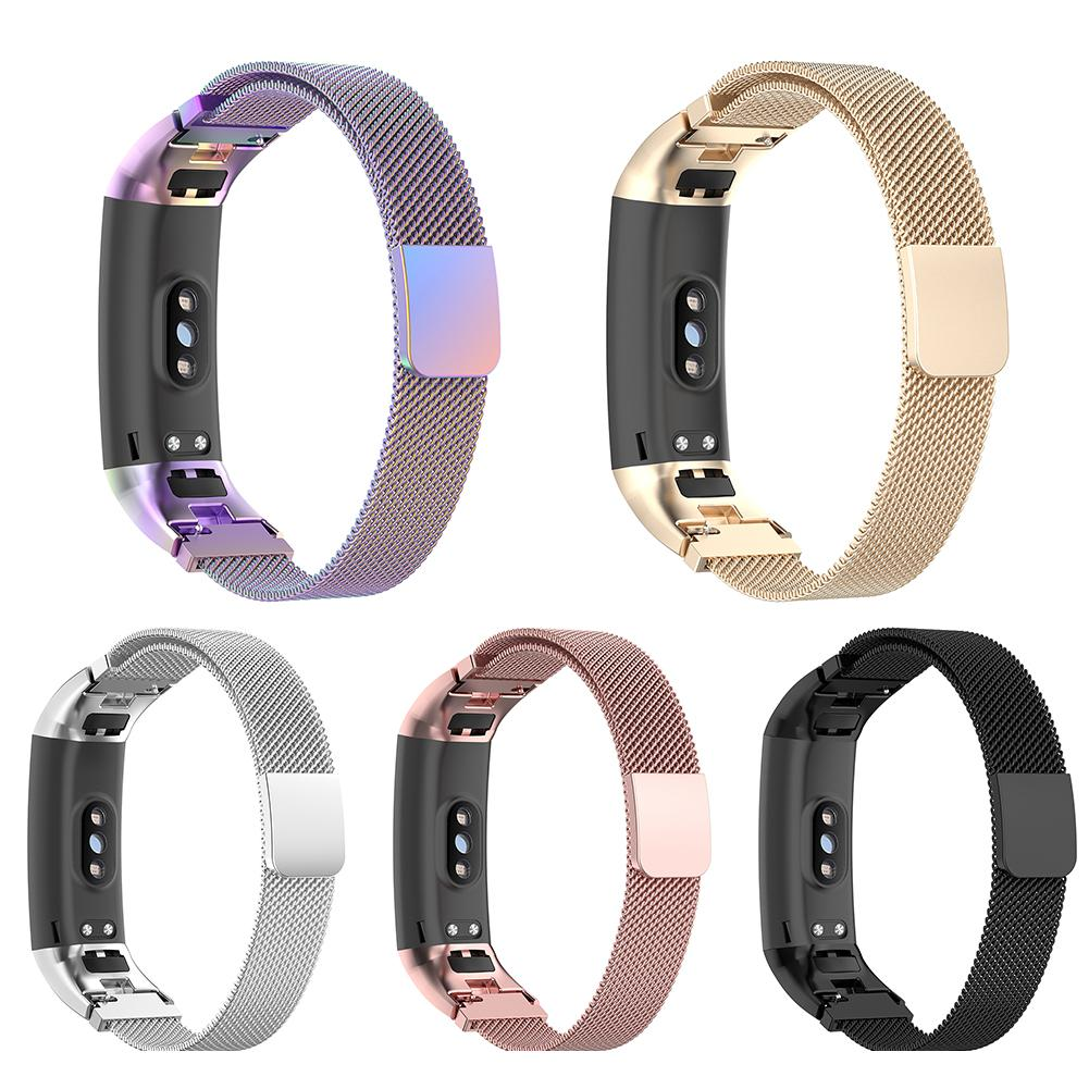 Magnetic Milanese Stainless Steel Watch Band Wristband Band Strap For Huawei Honor Band 4 Band 5 Strap Smart Bracelet Accessorie(China)