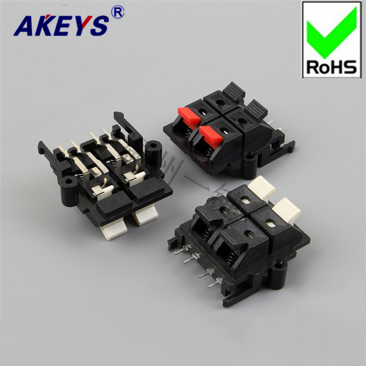 4 PCS Connection Clip 4-bit high quality test audio wiring Fast clip Aging WP4-15 outer seat