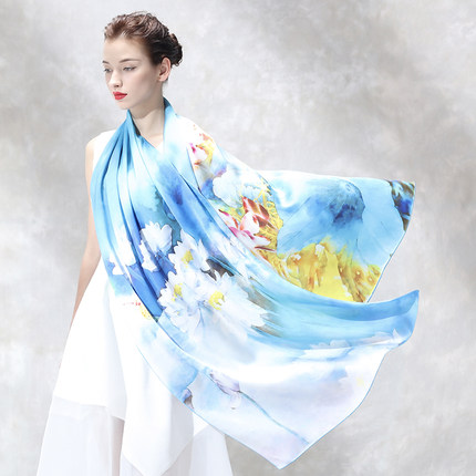 NEW Silk Scarves Women Spring And Summer 2020 New Chinese Style Silk Scarf Shawl Hangzhou Silk