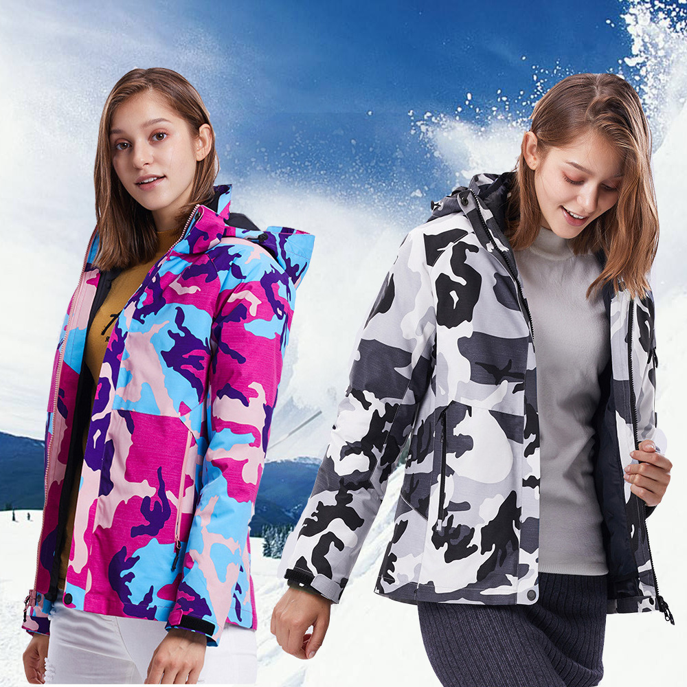 Skiing Jackets Women Waterproof Windproof Snowboarding Jacket Outdoor Sportswear Snow Ski Jacket Breathable Winter Jacket Women