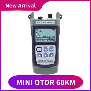 Free Shipping Mini 60KM Fiber Optic OTDR Optical Fiber Reflectometer Built in VFL with FC SC Touch