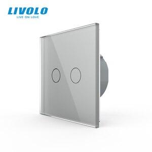 Image 4 - Livolo האיחוד האירופי תקן 2 כנופיית 1 דרך קיר מגע אור מתג, קיר כוח חיישן מתג, 7 צבעים קריסטל זכוכית פנל, עם led תאורה אחורית