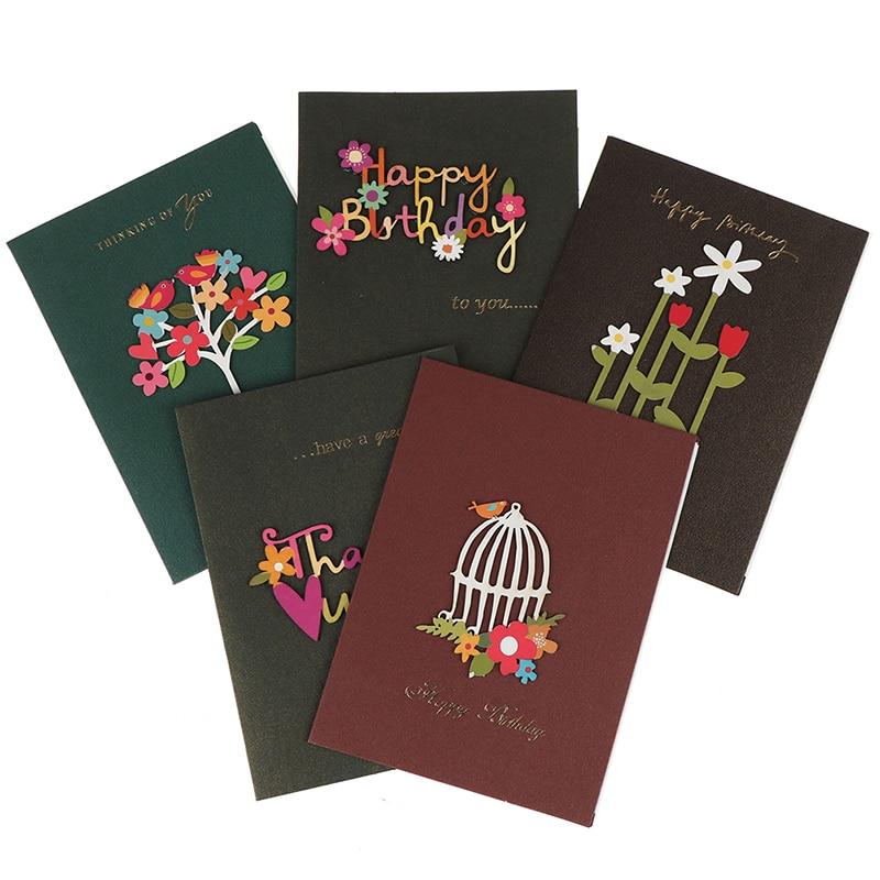 1pc Handmade Thank You Card Cute Happy Birthday Christmas Greeting Card