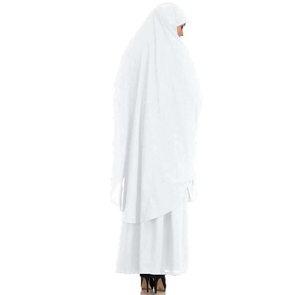 Women Muslim Burqa Niqab Overhead Hijab Skirt Khimar Prayer Abaya 2 Piece Dress Sets Islamic Jilbab Kaftan Robe Gown Middle East