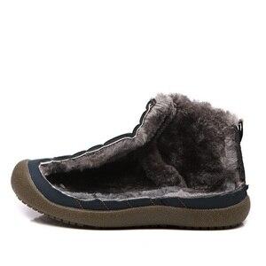 Image 5 - Stq 2020 Winter Vrouwen Snowboots Enkellaarsjes Vrouwen Slip Op Waterdichte Rubberen Laarzen Warm Bont Pluche Regen Laarzen Winter schoenen 6811