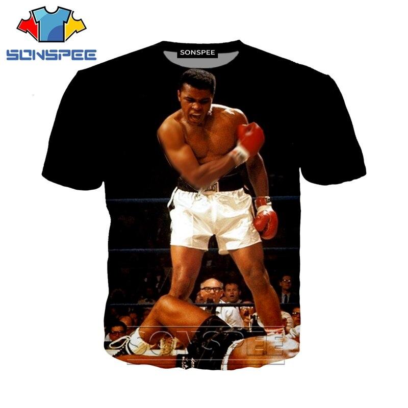 Anime 3d Print Game T Shirt Streetwear Muhammad Ali Boxing Top Men Women Fashion T-shirt Harajuku Kids Shirts Homme Tshirt A226