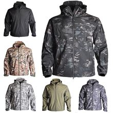 Spring Sharkskin Softshell TAD Tactical Jacket Men Camouflage Hunting Clothes Military Coats Windbreaker Jacket Hiking Camping outdoor sports tad shark skin soft shell camo jacket or pants men hiking hunting clothes camouflage tactical military clothing
