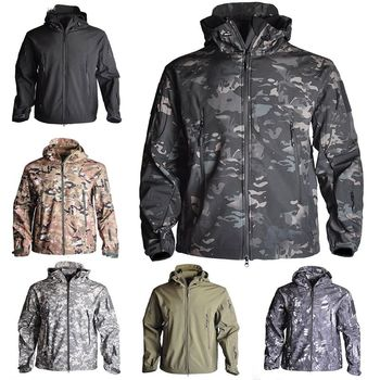 Spring Sharkskin Softshell TAD Tactical Jacket Men Camouflage Hunting Clothes Military Coats Windbreaker Hiking Camping
