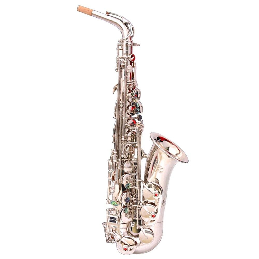 E плоский альт саксофон альт саксофон Никель покрытая серебром Музыкальные инструменты Одежда высшего качества экономически эффективным ...