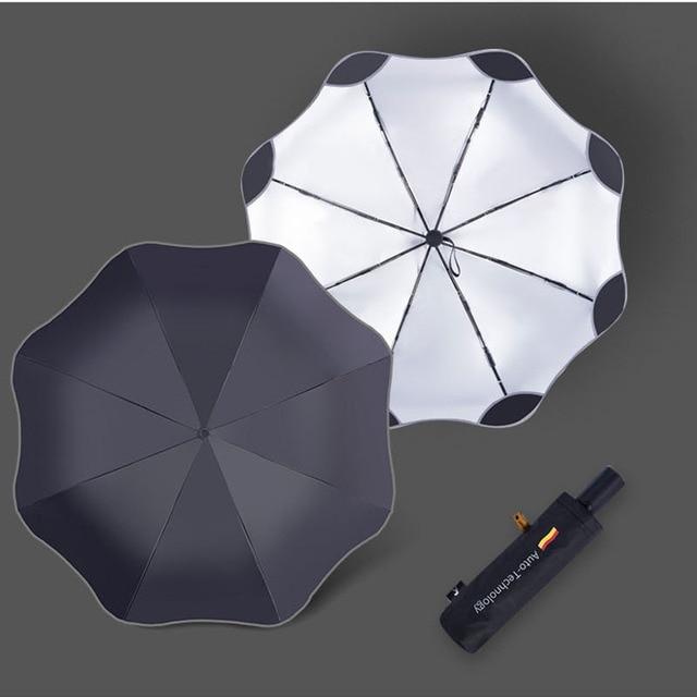 3 Folding Anti-UV Full Automatic Business Umbrella cb5feb1b7314637725a2e7: Automatic Black|Automatic Blue|Automatic Navy|Automatic Pink 1|Automatic Pink 2|Automatic White