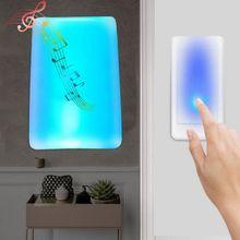 1Set Wireless Doorbell Colorful Light Flash Door Bell Home Music Motion Sensor J