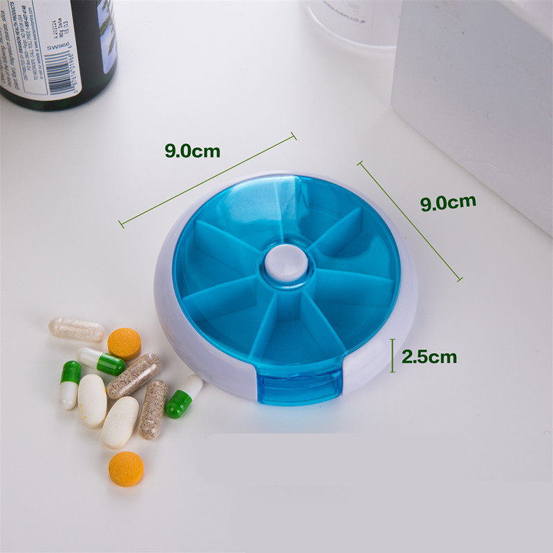 Image 4 - Weekly Rotating Pill Box Travel Pill Case Splitter Pill Organizer Medicine Box 7 Day Pill Cutter Tablet Container-in Pill Cases & Splitters from Beauty & Health