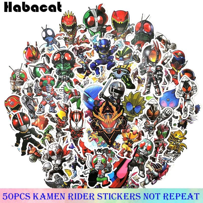 50 Pcs/Pack Kamen Rider Cartoon Anime Stickers For Motorcycle Car Bicycle Fridge Luggage Laptop Skateboard Kids Toy Stickers