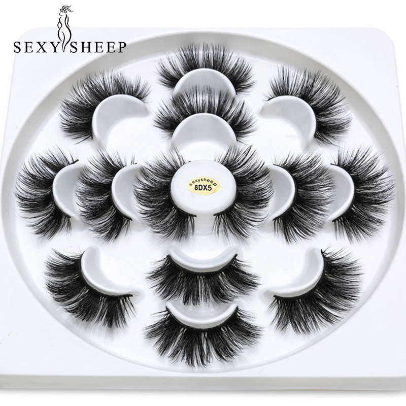 SEXYSHEEP 2/4/7pairs Faux 3D Mink Lashes Natural Long False Eyelashes  Volume Fake Lashes Makeup Extension Eyelashes Maquiagem