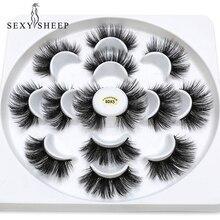Sexysheep 5/7 Đôi Giả 3D Chồn Hàng Mi Tự Nhiên Dài Lông Mi Giả Tập Giả Hàng Mi Trang Điểm Nối Dài Lông Mi Maquiagem