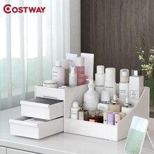 COSTWAY Cosmetic Box Desktop Cosmetic Storage Box Drawer Type Plastic Jewelry Storage Organizer Storage Rack W0592