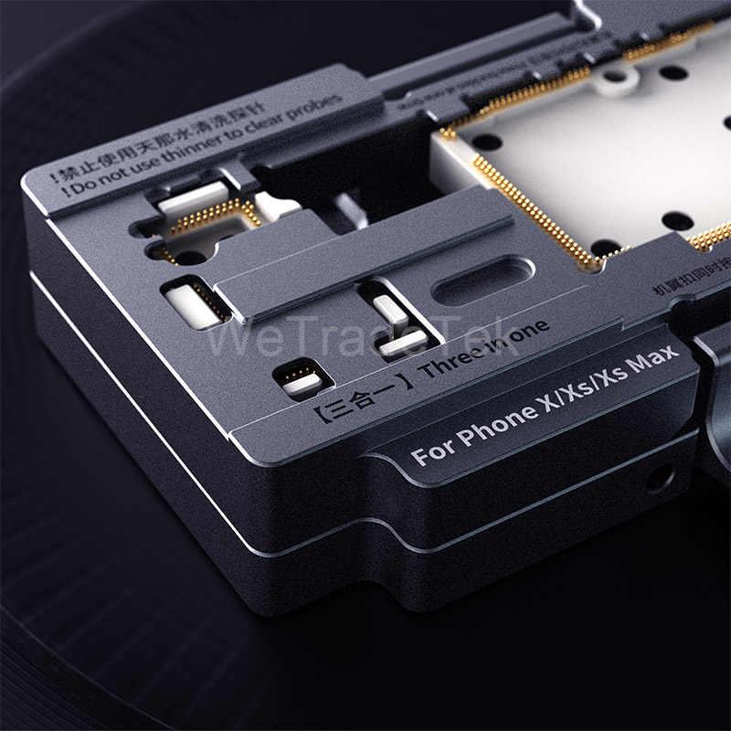 Qianli isocket para iphone x xs xsmax função de placa lógica diagnóstico testador rápido telefone reparação qualidade placa mãe teste dispositivo elétrico