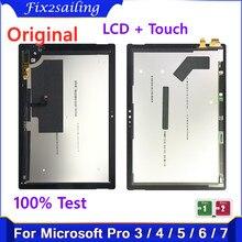 Display originale per Microsoft Surface Pro 3 1631 Pro 4 1724 Pro 5 1796 Pro 6 1807 Pro 7 1866 Display LCD Touch Screen Assembly