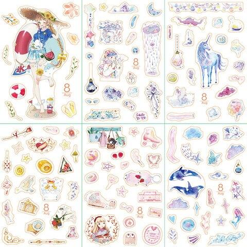 20 conjunto kawaii papelaria adesivos dezembro menina