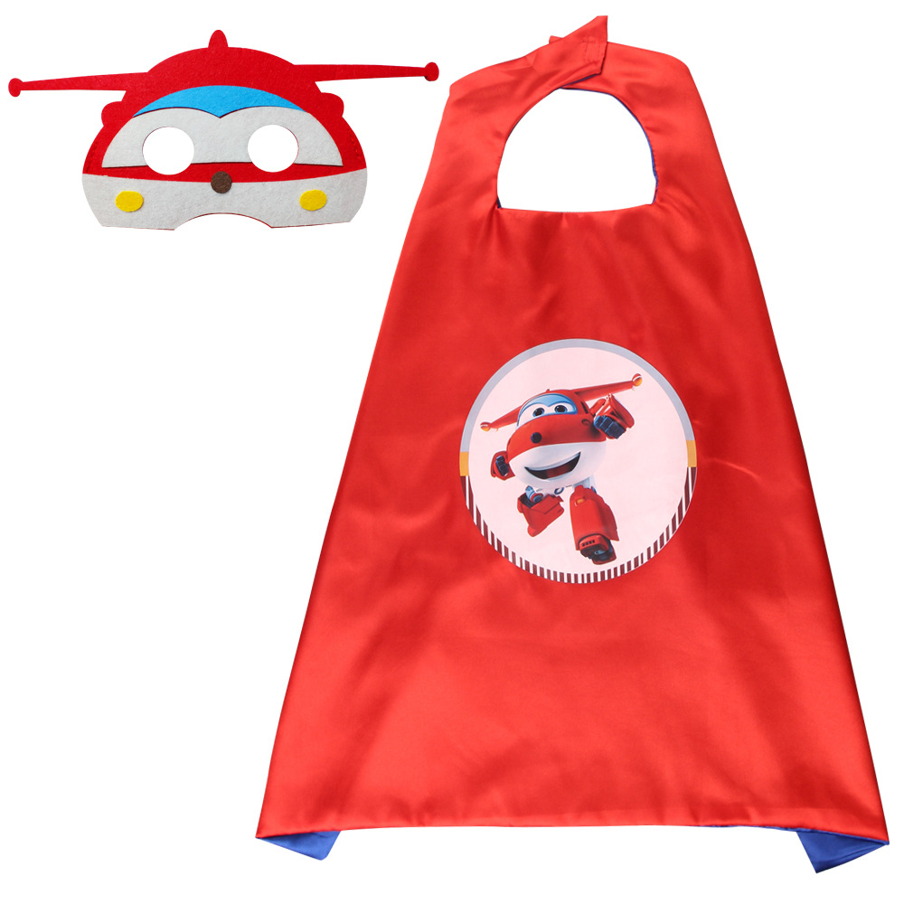 Super Wings Toy Anime characte Set Mask Cape Cloak Cosplay Cartoon  Birthday Gifts Christmas Halloween party decoration Kids Toy