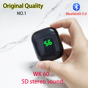 Image 4 - Original WK60 Wireless Earphones Bluetooth 5.0 Earphones TWS Noise Cancelling Headset Digital display Sports Earphone With Mic